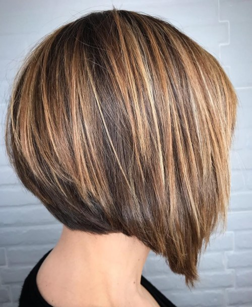Straight Inverted Bob For Thick Hair