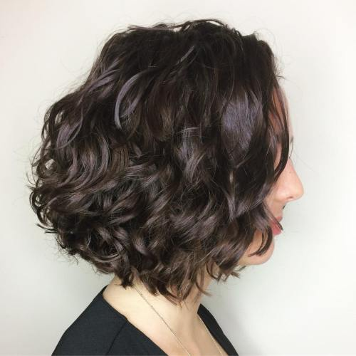different styles for bobbed hair 50 different versions of curly bob hairstyle 6323 | 6 brunette curly bob hairstyle