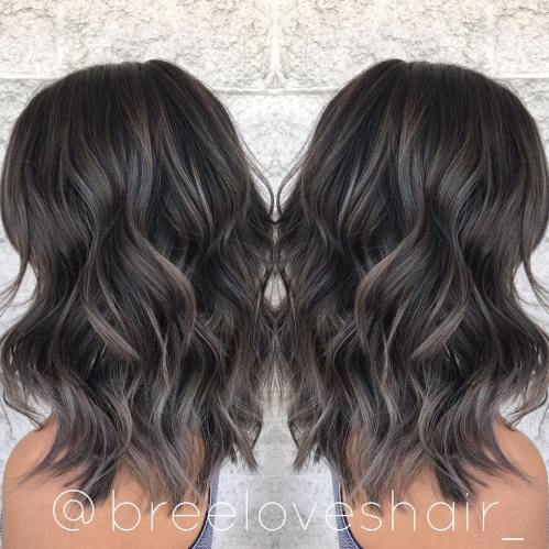Medium-Length Shag For Thick Wavy Hair