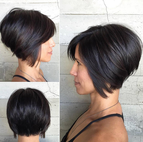 short bob haircuts for thick hair 60 haircuts and hairstyles for thick hair 1180 | 6 short inverted bob haircut for thick hair