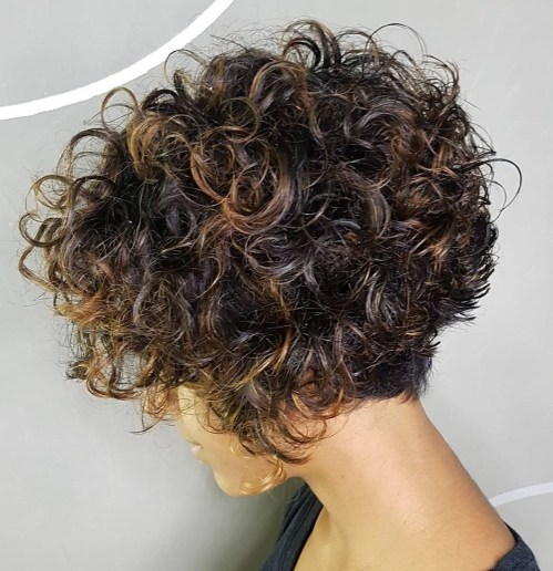 Short Stacked Bob For Naturally Curly Hair
