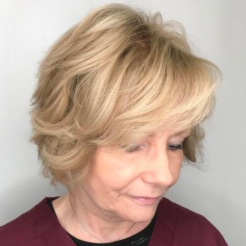 Short To Medium 50+ Blonde Hairstyle