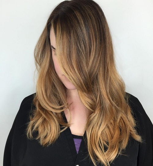 Caramel Balayage For Brown Hair