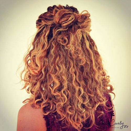 Half Up Hairstyle For Curly Hair