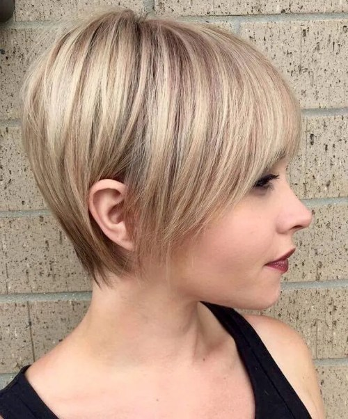 Long Feathered Blonde Pixie