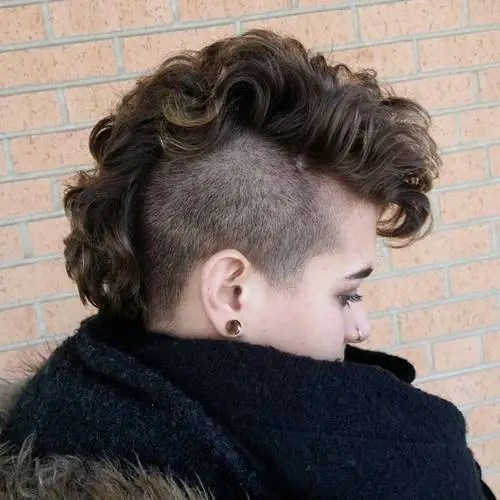 mohawk styles for curly hair 25 exquisite curly mohawk hairstyles for amp 5286