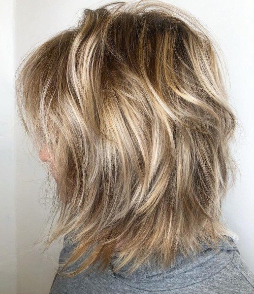 Blonde Sun-Kissed Messy Bob