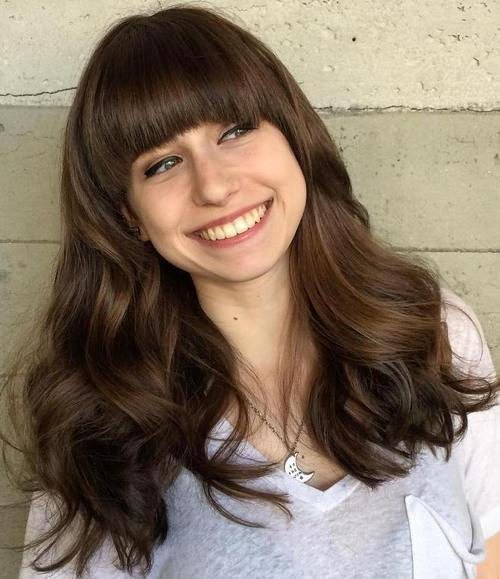 haircuts with bangs for thick hair 40 refreshing variations of bangs for faces 3692