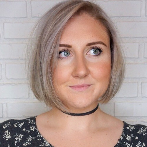 Asymmetrical Bob For Round Faces