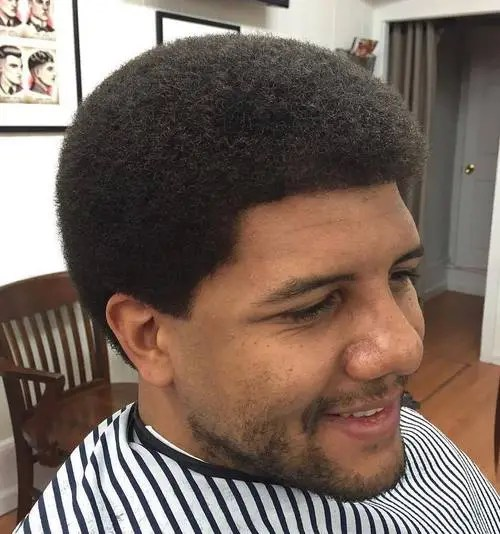 men's natural black retro hairstyle
