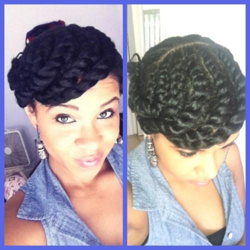 Awe Inspiring 5 Super Creative Updo Hairstyles For Black Women African Curls Hairstyles For Men Maxibearus