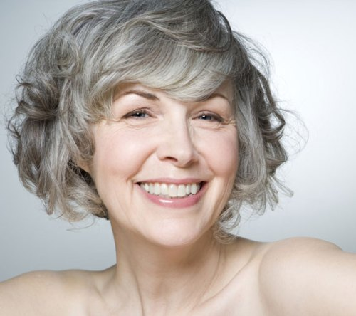 30 modern haircuts for women over 50 with extra zing curly silver bob for older women urmus Choice Image
