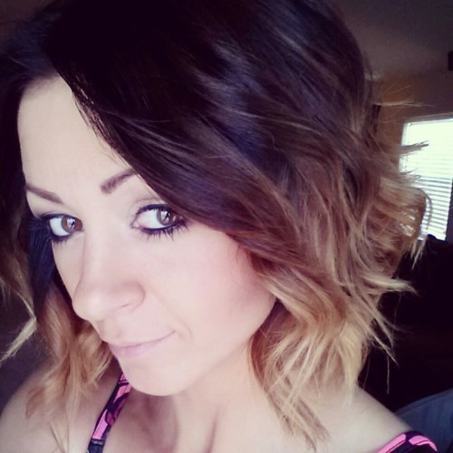 dark brown to blonde short ombre hair