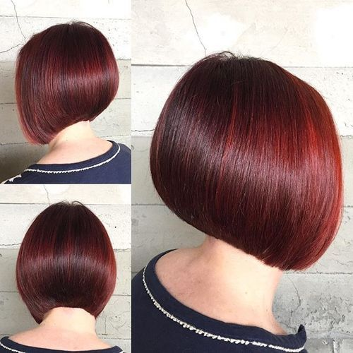 burgundy bob hairstyle