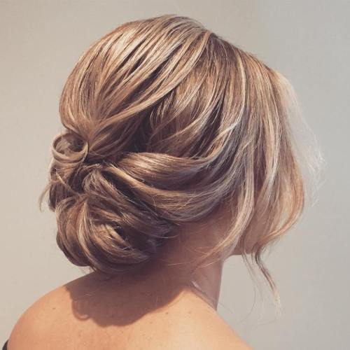 Loose Low Updo for Medium Hair