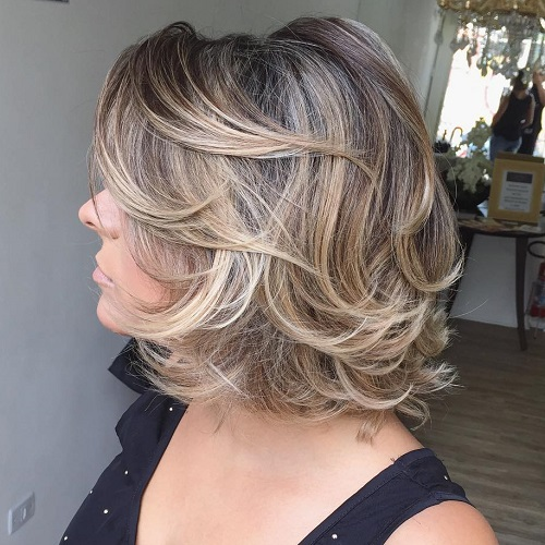 Layered hairstyles for mature women