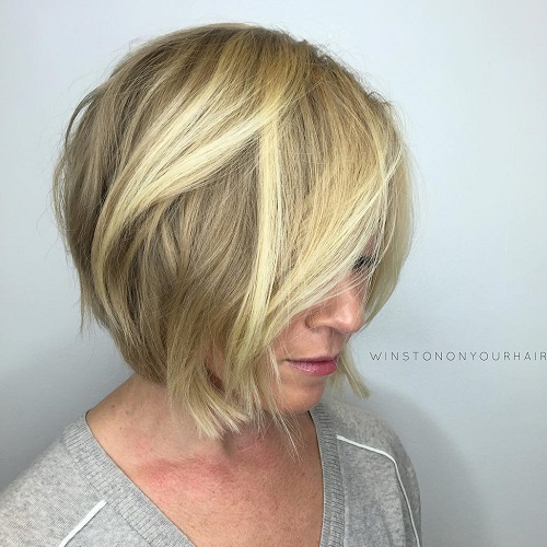 Blonde Layered Bob For Women Over 40