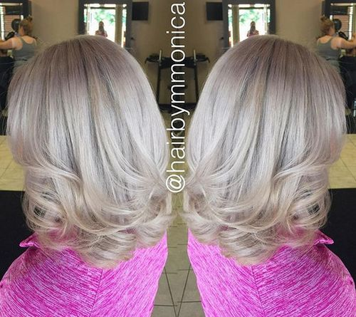 ash blonde medium length hair