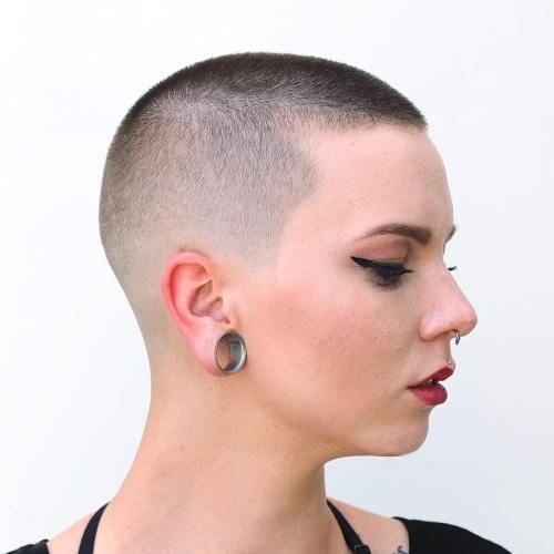 Cut girl hair shaved short