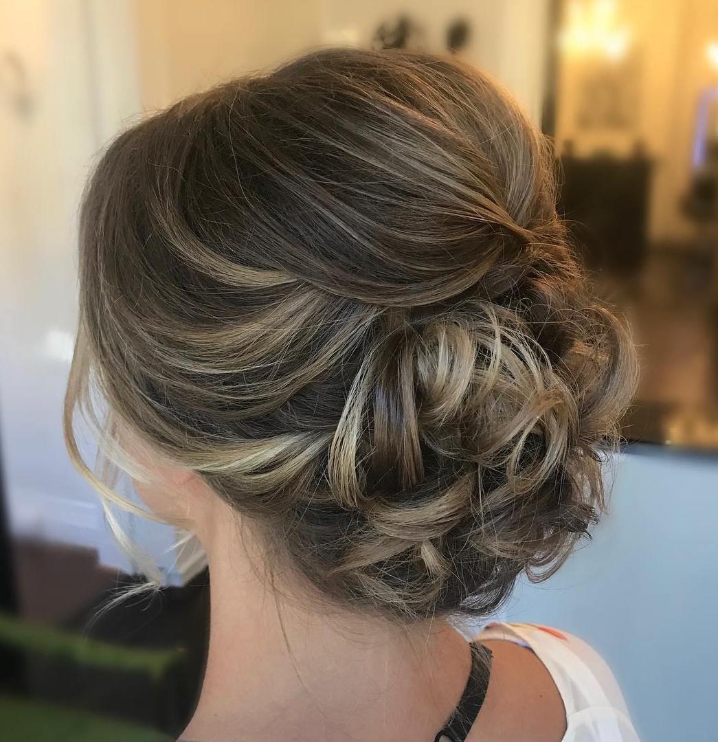 Beautiful Curly Updo For Medium Hair