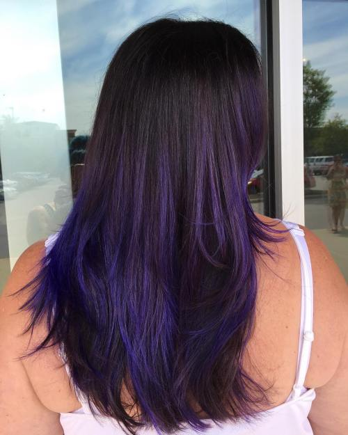 Dark Lavender Ombre