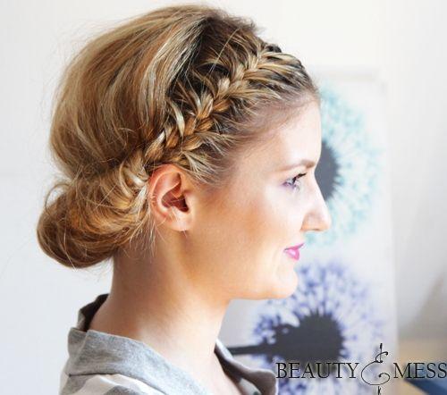 Wondrous 54 Easy Updo Hairstyles For Medium Length Hair In 2017 Short Hairstyles Gunalazisus