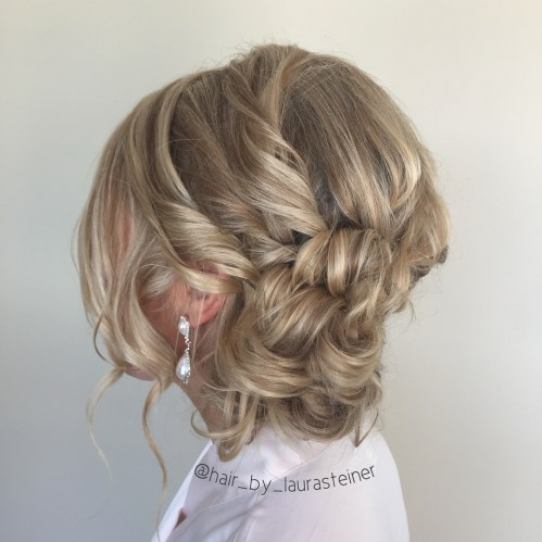 Low Messy Updo Hairstyle