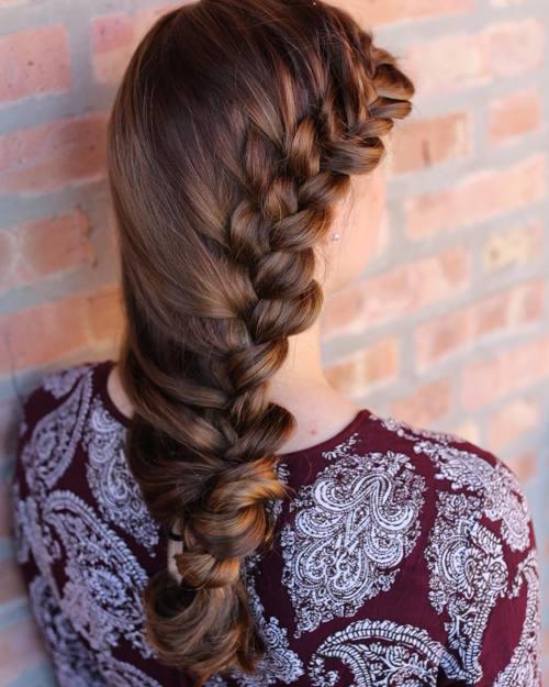 Side Braid Elegant Downdo
