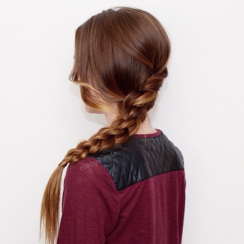 Cute Double Braid For Teens
