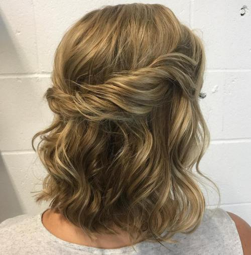 Wavy Half Up Half Down Hairstyle