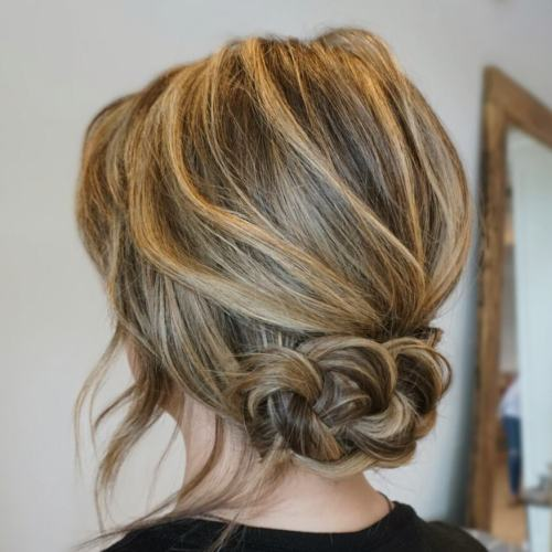 Low Braided Updo for Lob