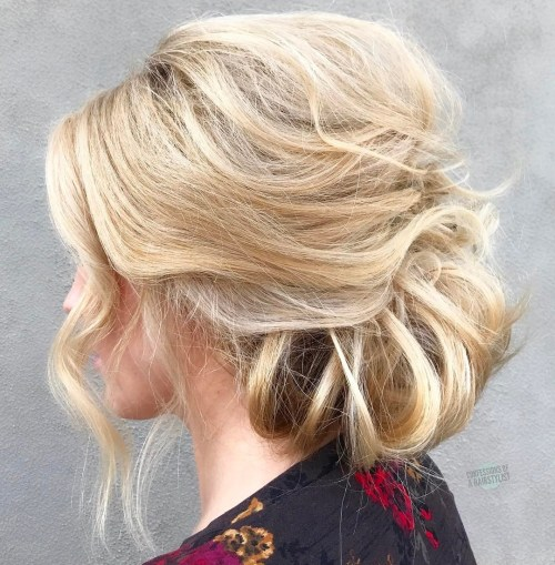 Messy Low Bun With A Bouffant