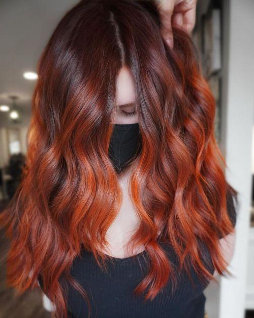 Dark Red Copper Fall Color