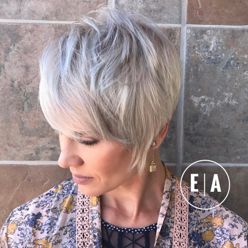 Long Choppy Pixie Haircut
