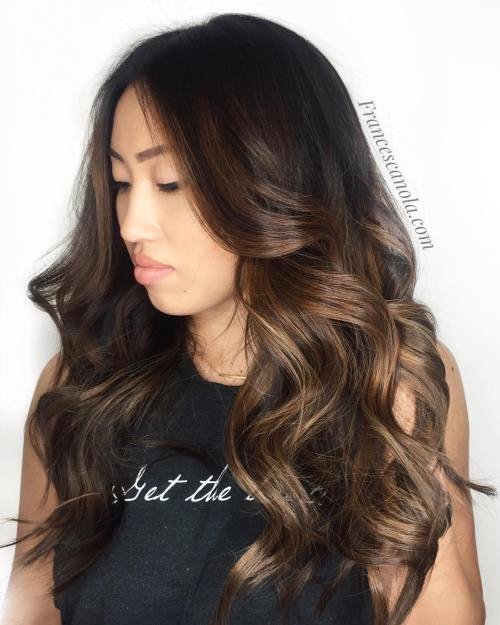 Brown Face-Framing Balayage