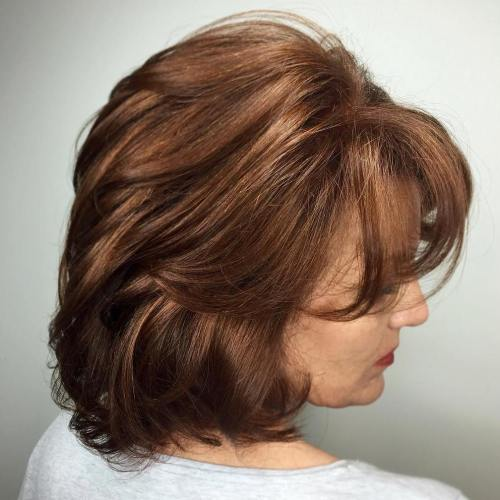 40+ Medium Hairstyle With Bangs