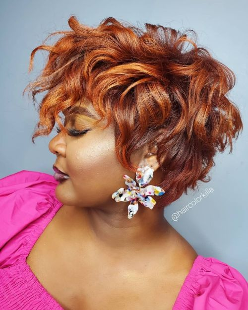 Red and Copper Tones for Dark Skin
