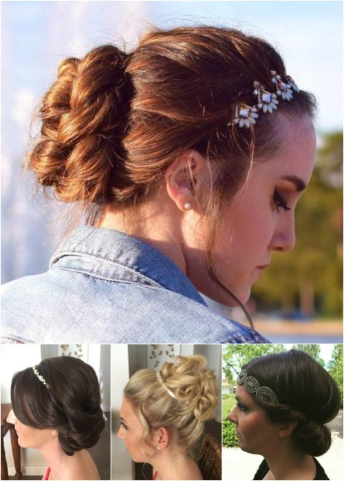 Wondrous 54 Easy Updo Hairstyles For Medium Length Hair In 2017 Hairstyles For Women Draintrainus