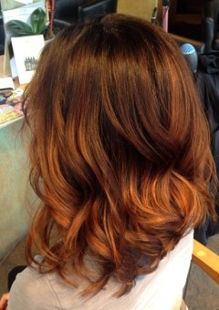 brown to copper ombre hair