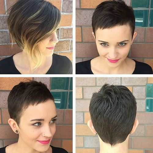 extra short pixie for girls