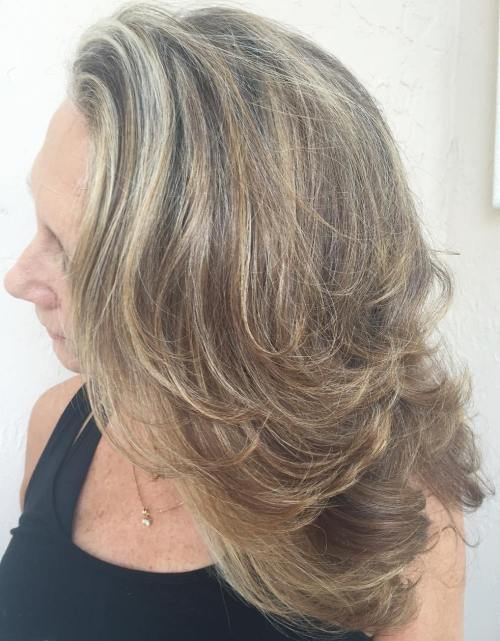 Medium Hairstyle With Flicked Layers