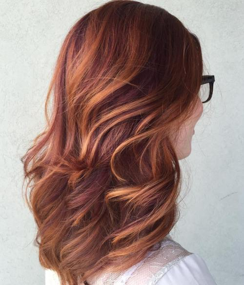 40 fresh trendy ideas for copper hair color plum red hair with copper highlights pmusecretfo Image collections