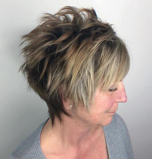 Razored Pixie Cut Over 40