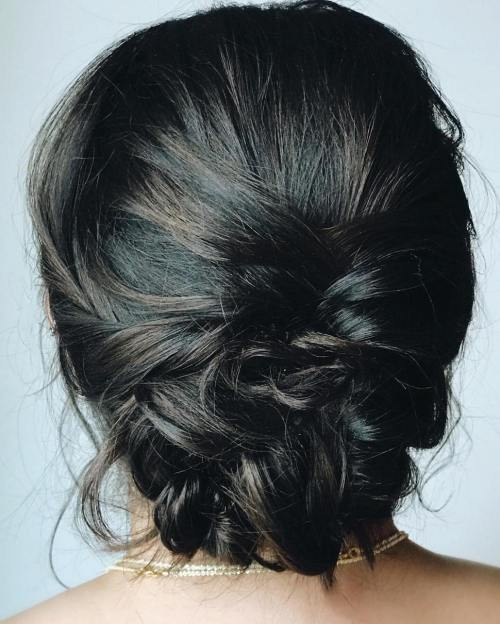 Low Messy Braided Updo