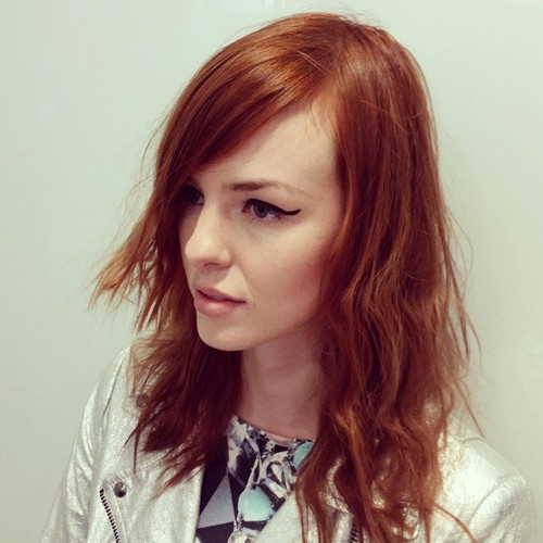 messy copper hairstyle