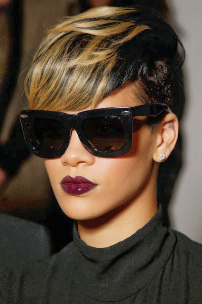 Rihanna Hairstyles 2 loose waves Short Mohawk Hairstyle