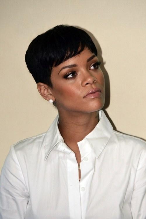 Rihanna classy short hairstyle