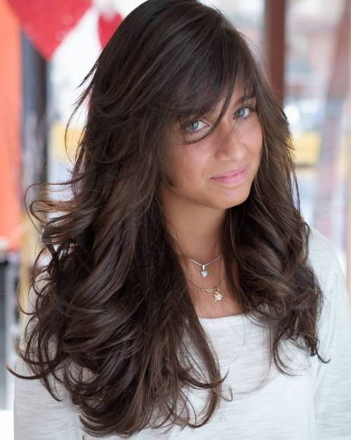 Long Layered Brown Hairstyle
