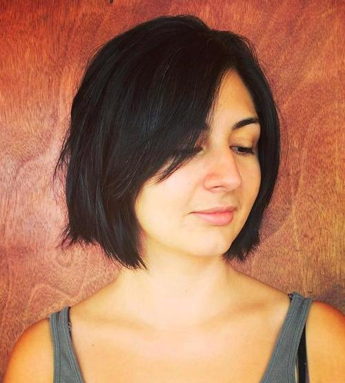 bobbed haircuts with bangs 30 side swept bangs to sweep you your 5098 | 13 layered bob with side bangs