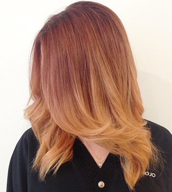 Auburn To Strawberry Blonde Ombre
